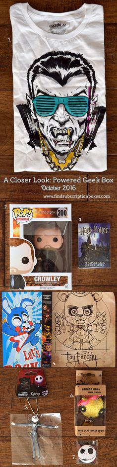 October's Horror Powered Geek Box unboxed! Five Nights at Freddy's mini-poster, Harry Potter playing cards, Supernatural Funko Pop! & more! http://www.findsubscriptionboxes.com/a-closer-look/powered-geek-box-october-2016-review/?utm_campaign=coschedule&utm_source=pinterest&utm_medium=Find%20Subscription%20Boxes&utm_content=Powered%20Geek%20Box%20October%202016%20Review%20%2B%20Coupon  #PoweredGeekBox