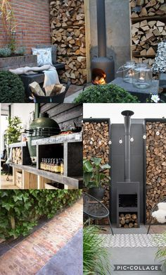The backyard of your home can be called as the extension of your home. However, it might be more fun, colorful as well as fun to decorate your backyard Mediterranean Outdoor Fireplaces, Indoor Outdoor Fireplaces, Fireplace Outdoor, Garden Fire Pit, Sunken Garden, Outdoor Spaces, Outdoor Living, Outdoor Decor, Cool Fire Pits