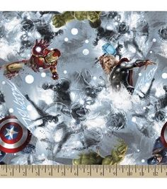 Marvel Avengers Sketch Cotton Fabric