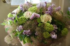 orchid,lilac,rose and Cotinus coggygria