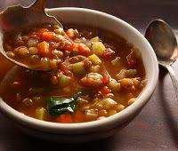 Cantinho Vegetariano: Sopa de Lentilhas (vegana)
