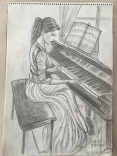 # pencil drawing # picture # my work dessin dessin Music Drawings, Girly Drawings, Pretty Drawings, Cool Art Drawings, Pencil Art Drawings, Art Drawings Sketches, Colorful Drawings, Disney Drawings, Easy Drawings
