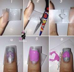 Howto make Heart Nails! #nailart #vday #pinkheart #pictorial - bellashoot.com