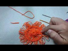 Motivo quadrado de crochê de grampo By Arléia - YouTube