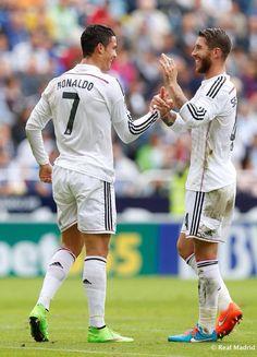 Cristiano Ronaldo and Sergio Ramos for Real Madrid