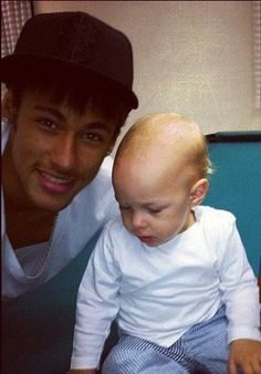 Neymar Jr and a tender moment with his son, Davi.