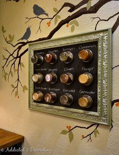 DIY Magnetic Chalkboard Spice Rack » Sustainable Living World