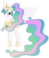 Princess Celestia  With A Ponytail
