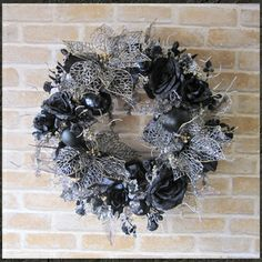 Gorgeous poinsettia black Christmas Wreath