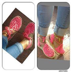 crochet shoes alpargatas tejidas a mano espadrilles