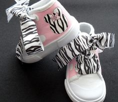 Minnie Mouse Light Pink High Top Zebra Shoes