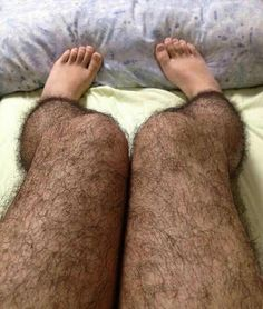 """These are """"hairy pantyhose"""". I dare one of my girlfriends to wear these!"""