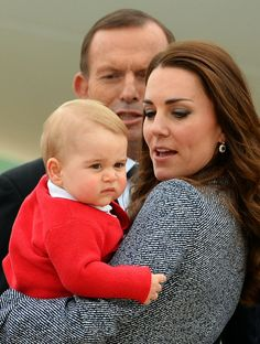 Prince George Does NOT Want To Meet Tony Abbott (PICTURES)