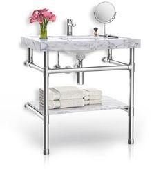 Palmer Industries pedestal sink vanity flush