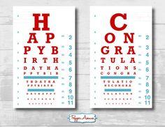 Doctor or Nurse Party Eye Chart - Birthday or Graduation Party Fun!!