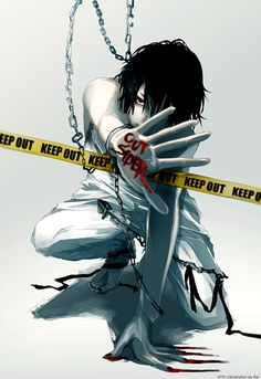 Anime, not sure if this is L from Death Note...(nether do I its a little different but still cool lookin