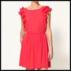 BCBGirls Ruffle Dress Ruffled Shoulder Dress BCBGeneration Dresses