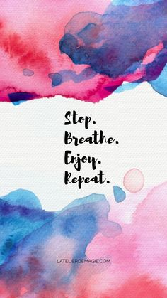 Stop. Breathe. Enjoy. Repeat. | Skirt the Ceiling | http://skirttheceiling.com