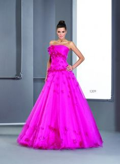 Style #T1209 Fuchsia Colored Ball Gowns