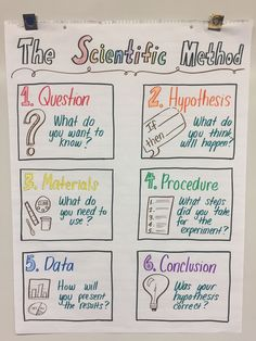 My anchor chart for fifth grade NGSS scientific method 517702919651074869 - Science Kindergarten Science Experiments, 4th Grade Science, Science Fair Projects, Preschool Science, Elementary Science, Science Classroom, Science Anchor Charts 5th Grade, Science Education, Science Labs