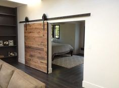Sliding Barn Door - Tobacco Barn Wood - contemporary - interior doors - phoenix - by Porter Barn Wood LLC Wooden Sliding Doors, Internal Sliding Doors, Contemporary Interior Doors, Interior Barn Doors, Kitchen Contemporary, Interior Modern, My Home Design, House Design, Bedroom Barn Door