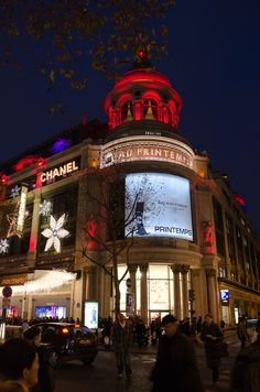 Illuminations de Noël au Printemps haussmann | Flickr - Photo Sharing!