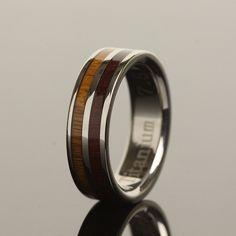$155 titanium and wood ring from Makani Hawaii