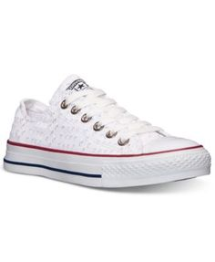 14d656ba238 Converse Women s Chuck Taylor CT Ox Eyelet Sneakers from Finish Line Shoes  - Finish Line Athletic Sneakers - Macy s