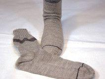 Socken Gr. 44/45 hellbraun