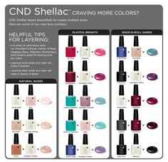 CND Shellac Layering http://www.cnd.com/pro-products/cnd-shellac/cnd-shellac-colors/meet-colors