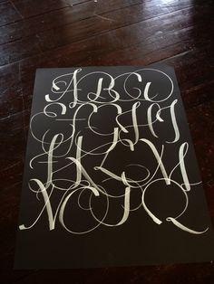 calligraphic alphabet (by oxygen timebomb)