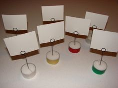 DIY place card holders from tealights