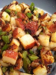 Fried Red Potatoes, a great side dish for breakfast or dinner.