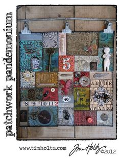 I love this from @Tim Holtz - my love of paper crafting & quilting brought together!