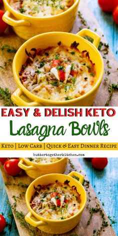 Keto Low Carb Lasagna Bowls – An easy and delicious recipe for low carb lasagna that the whole family can enjoy! Keto Low Carb Lasagna Bowls – An easy and delicious recipe for low carb lasagna that the whole family can enjoy! Dinner Recipes Easy Quick, Low Carb Dinner Recipes, Keto Dinner, Diet Recipes, Healthy Recipes, Smoothie Recipes, Healthy Foods, Yummy Recipes, Soup Recipes