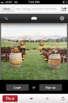Wedding Aisle Barrels