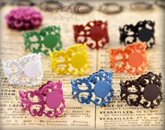 Awesome colorful ring bases for cabochons!