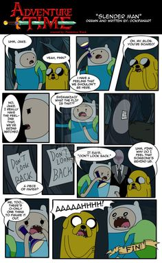 AT Short Fan Comic: Slender Man with Finn and Jake by ~DokiFanArt on deviantART