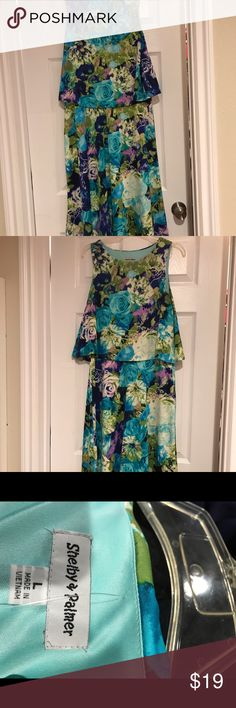 Shop Women's Shelby & Palmer Green Blue size L Dresses at a discounted price at Poshmark. Blue Green, Two Piece Skirt Set, Colorful, Printed, Spring, Closet, Things To Sell, Dresses, Style