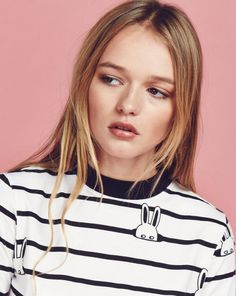 Lazy Oaf Bunny Stripe T-shirt - Tops - Categories - Womens                                                                                                                                                                                 Plus