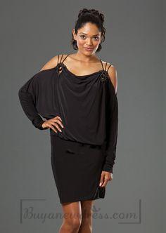 Off-the-shoulder Mini-length Empire Evening Dress