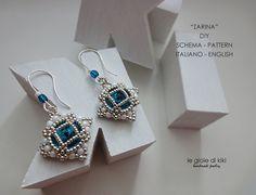 DIY earrings scheme Czarina by Legioiedikiki on Etsy