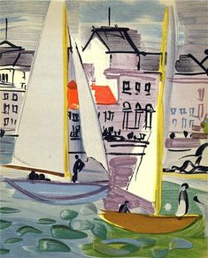 """""""Venice"""" by Raoul Dufy Lithograph Art Arte Fauvismo Raoul Dufy, Henri Matisse, Renoir, French Artists, Pablo Picasso, Famous Artists, Manet, Oeuvre D'art, Painting & Drawing"""