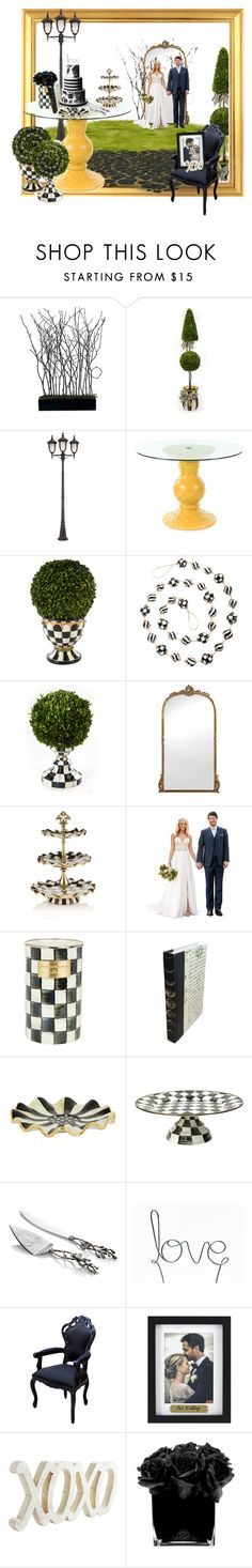 """""""Wedding style black white outside"""" by britt-catlynne-weatherall on Polyvore featuring MacKenzie-Childs, John Timberland, Michael Aram, Fetco, Pier 1 Imports and Hervé Gambs"""