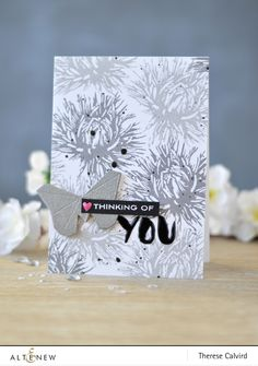 Altenew - Aster Build -A-Flower - Thinking of You - Reflection Scrapbook Collection - New Day Card Kit (card video) 1 copy