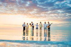 Family Portrait in the middle of the sea.  Sandbar wedding, Ambergris Caye Belize.  Belize wedding photographers - Leonardo Melendez Photography. @weddingsbelize