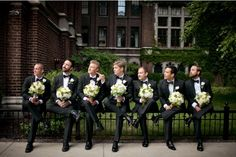 These groomsmen are killing it.