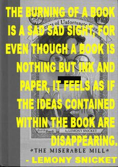Lemony Snicket on Banned Books