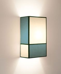 Radieuse Large Wall light - Not electrified - H 36 cm Beige & blue / Black braid by Maison Sarah Lavoine