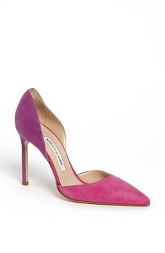 'Tayler' d'Orsay Pump ...to match the fuchsia jacket I just pinned! :)